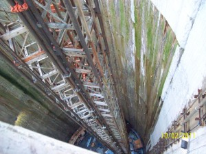 Lee Tunnel Contruction Using UBS Tri Mast Hoist Looking Down #2
