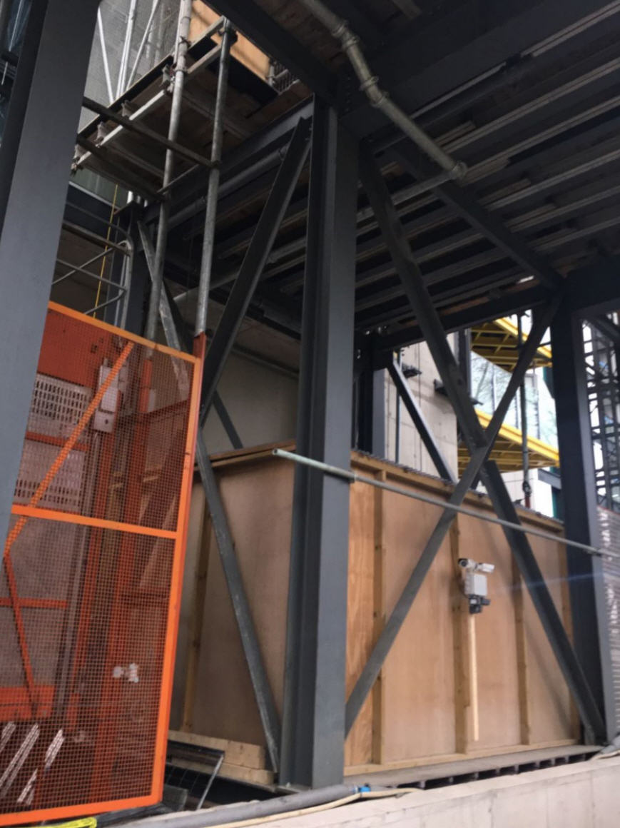Close Up of Gantry at Bottom Of Highpoint Hoist Tower Designed By UBSL02