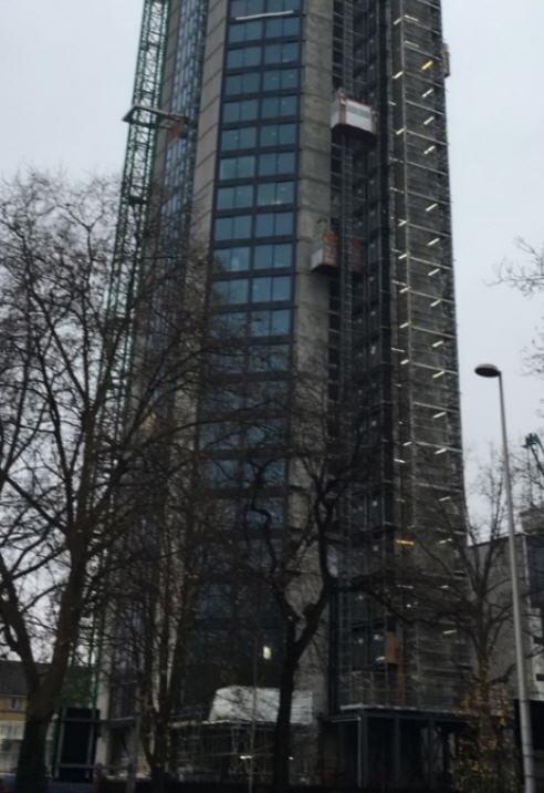 Gantry at Bottom Of High Point Development Hoist Tower Works Design By UBSL